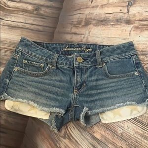 American Eagle Jean Shorts Star Pockets 00